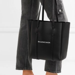 Balenciaga classic tote logo handbag black XS NEW!